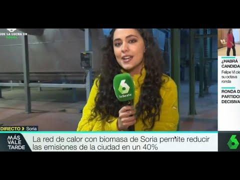REBI SLU: Un equipo de La Sexta se desplaza a la Red de Calor de Soria