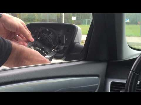 Replacing the side mirror glass on a BMW ... (5 Series)