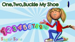 One Two Buckle My Shoe | The Numbers Song | Nursery Rhyme