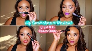 getlinkyoutube.com-LA Girl Matte Pigment Glosses Lip Swatches + Review! 💋
