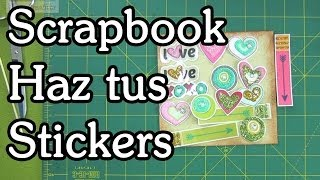 getlinkyoutube.com-Haz tus stickers - Tutorial scrapbook