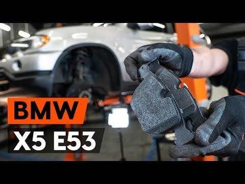 Как заменить тормозные колодки переднего дискового тормоза на BMW X5 (E53) (ВИДЕОУРОК AUTODOC)