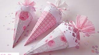 getlinkyoutube.com-Matrimonio: Coni porta riso/coriandoli - Wedding: Confetti holder cones