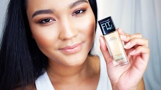 getlinkyoutube.com-Maybelline Fit Me Matte Pore-less Foundation Review/Demo