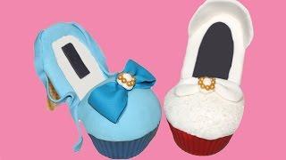 getlinkyoutube.com-Cómo hacer cupcakes de zapatos. High heel cupcakes