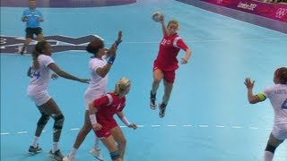 getlinkyoutube.com-Women's Handball Group B Match - Norway v France   London 2012 Olympics