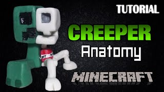Tutorial Creeper Anatomy en Porcelana Fria | Minecraft | Creeper Anatomy Clay Tutorial