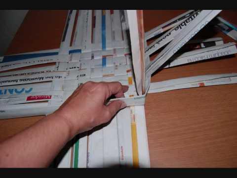 Como hacer canastas imagui - Cestas de periodico ...