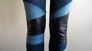 getlinkyoutube.com-DIY: customiza tus jeans (denim patchwork)