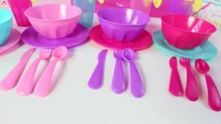 getlinkyoutube.com-Cocina de Juguete Jugando con Comidita Falsa|Kitchen Toy Playset|Mundo de Juguetes