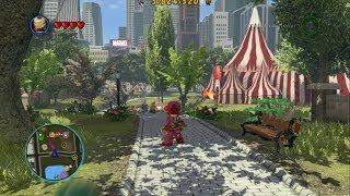 getlinkyoutube.com-LEGO Marvel Super Heroes - Open World Free Roam - Central Park Gameplay