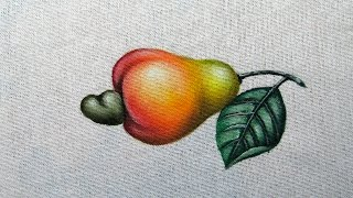 Como Pintar um Cajú