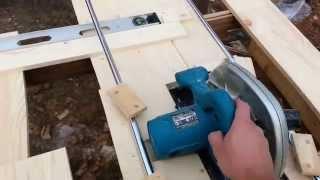 getlinkyoutube.com-Приспособление для ручной циркулярной пилы для распила мебельных щитов