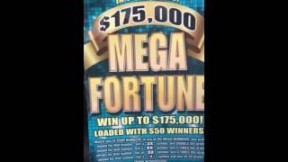 getlinkyoutube.com-Scratch Off Guy wins big on $175,000 Mega Fortune Scratch Off Kentucky Lottery