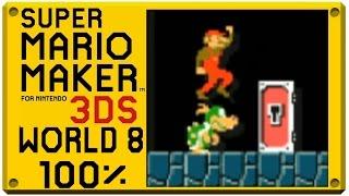 getlinkyoutube.com-Super Mario Maker for Nintendo 3DS - World 8 | Super Mario Challenge 100% Walkthrough