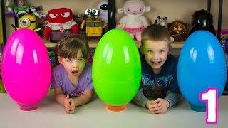 getlinkyoutube.com-Jumbo Mystery Surprise Eggs Part 1 Emily's Egg My Little Pony Littlest Pet Shop Kinder Playtime