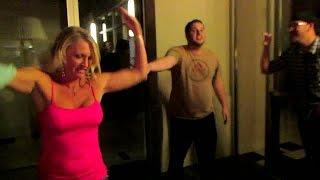 getlinkyoutube.com-Epic Push Up Battle! - Legion vs Awesome Random Woman!
