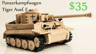 getlinkyoutube.com-Lego WW2 Tiger Tank Timelapse & Review Kazi Bootleg German Army
