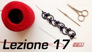 getlinkyoutube.com-Chiacchierino Ad Ago - 17˚ Lezione Bracciale Collarino Con Perline Bijoux Tutorial Come Fare Tatting