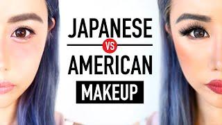 getlinkyoutube.com-Japanese Makeup vs. American Makeup ♥ Before & After Transformation ♥ Kawaii or Sexy? ♥ Wengie