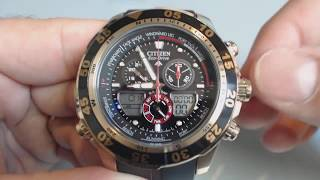 getlinkyoutube.com-Citizen Promaster Chronograph Watch JR4046-03E