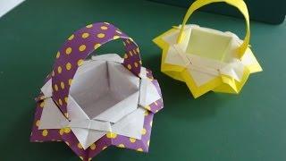 "getlinkyoutube.com-折り紙「バスケット」3""Basket""Origami3"