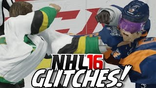 NHL 16 Funny Glitches, Hits & Moments #2