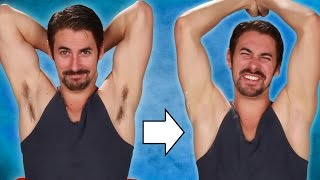 getlinkyoutube.com-Guys Shave Their Armpits For The First Time