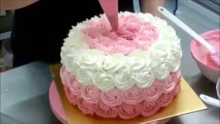 getlinkyoutube.com-Ombre Rose Cake
