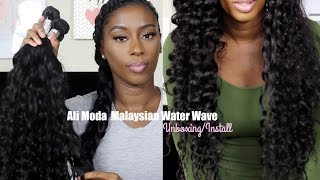Ali Moda Malaysian Water Wave Hair|Unboxing & Install