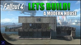 Fallout 4 - Lets build a Modern Style House | Nordhagen Beach | Settlement Construction | No Mods