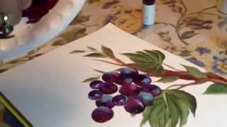getlinkyoutube.com-Painting Grape Vines for Karen N