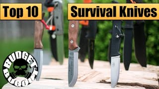 getlinkyoutube.com-Top 10 Best Survival Knives | Best Fixed Blades For Survival & Bushcraft -- Budget Bugout 2015