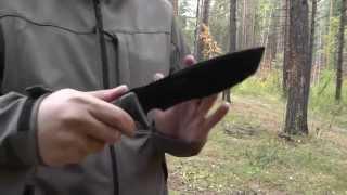 getlinkyoutube.com-Нож FOX FX 132 Trapper. Мечта технологичного выживальщика.