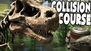 getlinkyoutube.com-Collision Course - LIVING SKELETON TREX, FINDING CRASHED SHIP - Collision Course Gameplay