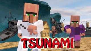 getlinkyoutube.com-Minecraft | TSUNAMI NATURAL DISASTER CHALLENGE - Tsunami Destroys City!