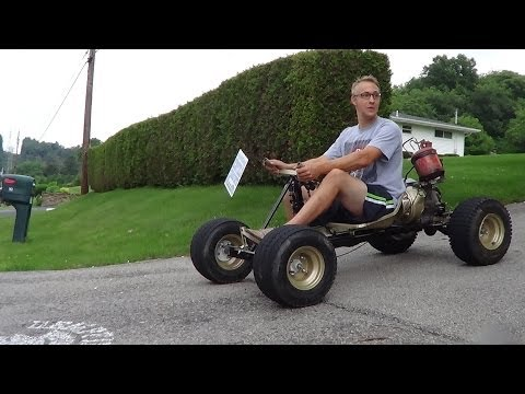 EPIC! HOMEMADE 5 speed go kart