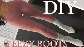 getlinkyoutube.com-DIY | YEEZY INSPIRED SOCK BOOTS | Carli Bybel