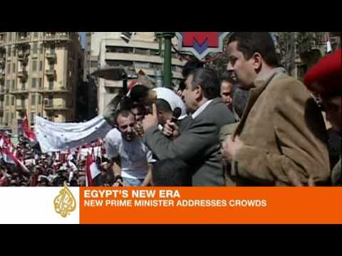 New Egypt PM addresses Tahrir rally
