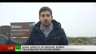 getlinkyoutube.com-New leader in Oregon standoff arrested following Bundy's 'stand down' order