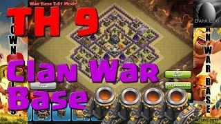 getlinkyoutube.com-Clash of Clans: Town Hall 9 Clan War Base (4 mortars update) Anti GoWiWi/GoWiPe