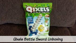 getlinkyoutube.com-Qixels Unboxing and Review - Battle Sword Qixels