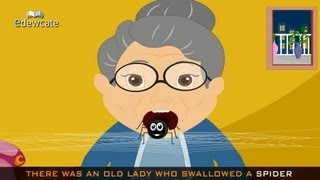 getlinkyoutube.com-Edewcate english rhymes - There was an old lady who swallowed a fly