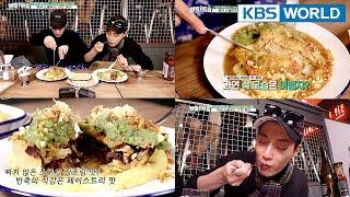 Dujun And Gikwang Enjoy Unique Meat Pies. YUM!!  [Battle Trip/2018.03.18]