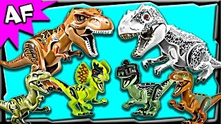 Lego Jurassic World Minifigures & Dinos Complete Collection 2015 Review