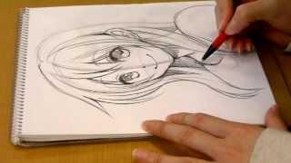 getlinkyoutube.com-Morita's manga  Come Back!.DRAWING girl's face by pencil 01 SeAL_Morita_Eihire