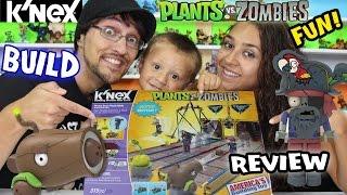 getlinkyoutube.com-Plants vs. Zombies K'nex: PIRATE SEAS PLANK WALK Timelapse Build & Review w/ Mom, Dad & Chase