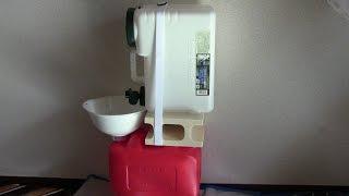 getlinkyoutube.com-ミニバン・軽1BOX車中泊用シンク(流し台)災害時にも役に立つ水回り@2,000円で製作