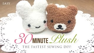 getlinkyoutube.com-The Fastest Plushie DIY Ever - Make an adorable toy in just 30 minutes!