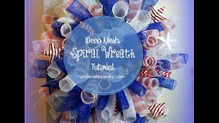 getlinkyoutube.com-Deco Mesh Spiral Wreath Tutorial